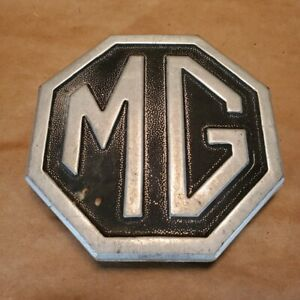 Original Mg Mgb Trunk Boot Lid Metal Octagon Badge Emblem 1974 1980 Cha545 Oem