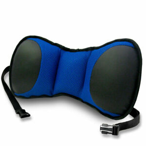 Car Seat Seat Lumbar Cushion With Strap Back Support Blue Black