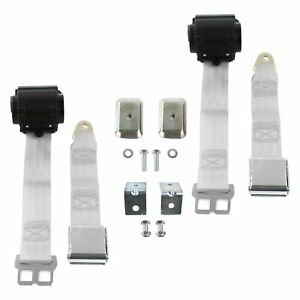 For Ford Thunderbird 67 76 2 Point Airplane Buckle Retractable Bucket Seat Belts