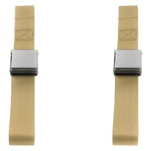 For Ford Thunderbird 67 76 2 Point Airplane Buckle Lap Bucket Seat Belts Tan
