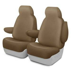 For Ford Mustang 2012 2014 Dash Designs Kingston 1st Row Tan Custom Seat Covers