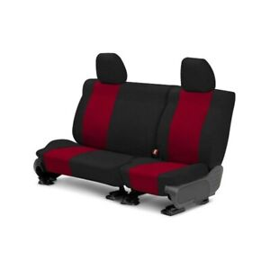 For Toyota Previa 94 97 Caltrend Tweed 2nd Row Black Red Custom Seat Covers