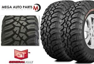 2 General Grabber X3 Lt265 70r17 121 118q E Red Letter Rugged Mud Terrain Tires