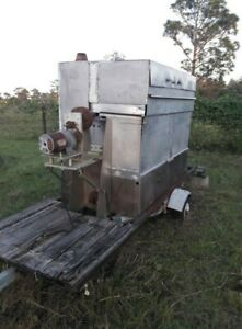 Large Trailer Smoker Bbq Pit Grill Mobile Concession Vending Catering Events
