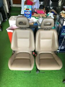 Oem Acura Integra Tan Front Seats Driver Passenger Re upholstered 94 01 2 dr