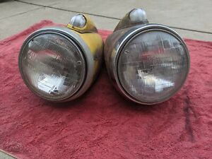 1941 1942 1946 Chevy Gmc Pickup Truck Headlight Bucket Pair Originals Chevrolet