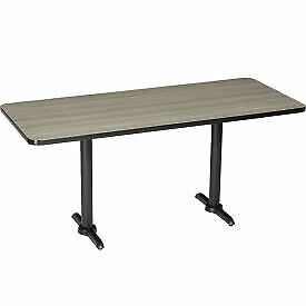 Interion Restaurant Lunchroom Counter Height Table 60 lx30 wx36 h Charcoal