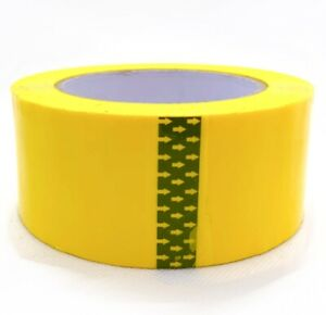 Yellow Packing Tape Moving Tape Sealing Tape 2 x110 Yard 2 0 Mil Thick 1roll