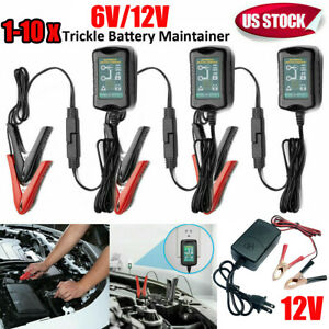 6v 12v Battery Charger Maintainer Trickle For Motorcycle Rv Atv Truck Car Mower