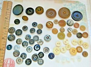 Lot Of Goodyear Irc Nrc Rubber Horn And Metal Shirt Type Antique Buttons
