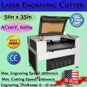 150w Co2 Laser Cutter Cnc Engraving Cutting Auto focus Honey Comb Blade Table