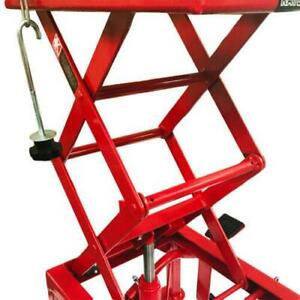 Hot 300 Lb Motorcycle Dirt Bike Stand Jack Lift Hoist Cart Wheels