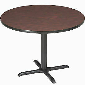 Interion 36 Round Restaurant Lunchroom Counter Height Table Mahogany
