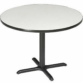 Interion 42 Round Restaurant Lunchroom Counter Height Table Gray 695805gy