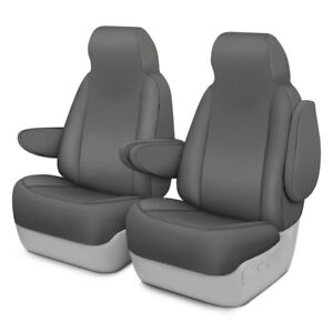 For Toyota Previa 94 97 Saddleman Canvas 1st Row Charcoal Custom Seat Covers