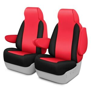 For Toyota Previa 94 97 Neoprene 1st Row Red Black Custom Seat Covers