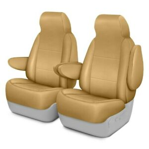 For Toyota Previa 94 97 Saddleman Leatherette 1st Row Tan Custom Seat Covers