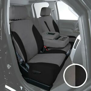 For Toyota Previa 94 97 Canvas 2nd Row Charcoal W Black Custom Seat Covers