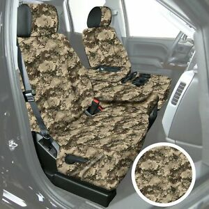 For Toyota Tacoma 09 15 Truetimber 1st Row Viper Western Camo Custom Seat Covers