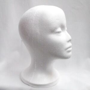 Perial Co 1pc Styrofoam Model Head Professional Hat And Wig Mannequin 11 Inches