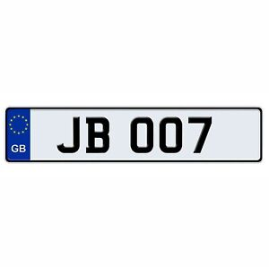 James Bond 007 European Style License Plate Aluminum Tag Collectible Vanity