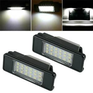 Can bus Led License Number Plate Light For Peugeot 106 1007 207 307 308 3008 406