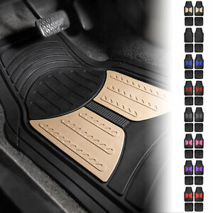 2 Tone Design All Weather Floor Mats W Free Air Freshener 8 Color Options
