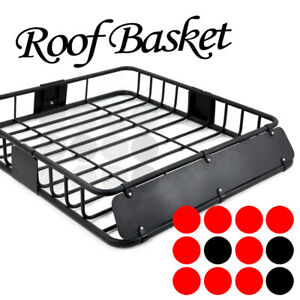 Fit Ford Roof Top Mount Basket Travel Luggage Carrier Cargo Rack Wind Fairing