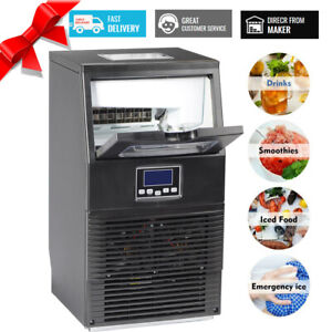 Smad 88lbs Commercial Ice Machine Bar Ice Maker Undercounter Restaurant Ice Cube