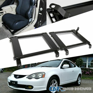 02 06 Fit Acura Rsx Tensile Steel Racing Seat Base Bucket Mounting Brackets Rail