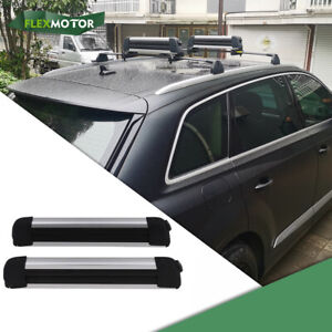 2 Pcs 22 Fit For Audi Q7 2016 2021 Ski Snowboard Carrier Mounted Roof Top Rack