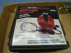 Craftsman Usa Retractable Work Light With 20 Foot Cord