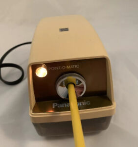 Vintage Panasonic Kp 33n Point o matic Electric Pencil Sharpener Tested Works