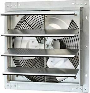 16 Wall Mounted Exhaust Fan Automatic Shutter Variable Speed Fan Only
