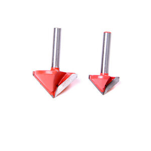 90 Degree 3d Making Router Cnc Engraving V Groove Bits End Mill 6mm X 22mm exi