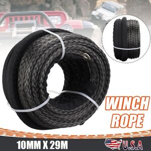3 8 X 85 Dyneema Winch Rope Synthetic Winch Line Cable For Atv Suv Motorcycle
