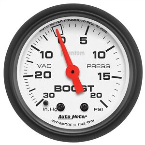 Autometer 5701 Phantom Mechanical Boost vacuum Gauge