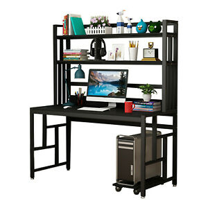 Computer Desk Pc Laptop Table Study Workstation Wood Home Office Furniture