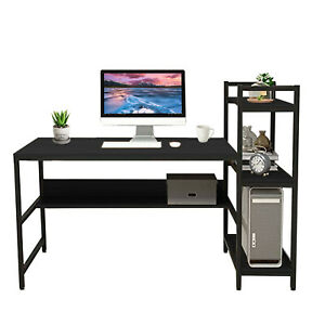 Us Computer Desk Pc Laptop Table Study Workstation Wood Home Office Furniture