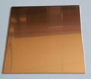Copper Sheet Plate 0323 24oz 20 Gauge 8 X 8