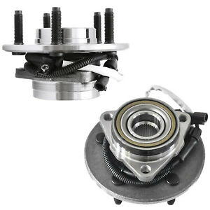 2 Front Wheel Bearings Hub For 2000 2003 Ford F 150 Truck 4wd Abs Hd Design