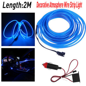 Bulb Led Auto Car Interior Decor Atmosphere Wire Strip Light Lamp Accessories Ea