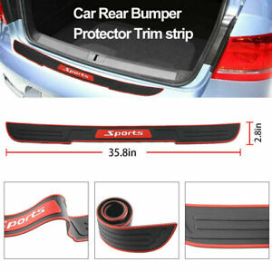 Car Rear Bumper Protector Rubber Trim Strip Trunk Sill Guard Scratch Cover Pad