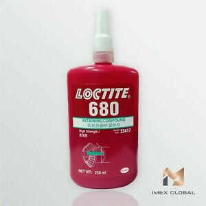 1 X Loctite 680 Retaining Compound High Strength 250ml Free Shipping Tracking