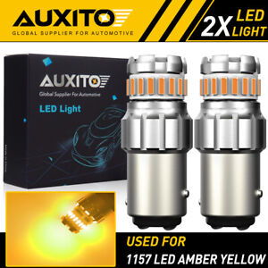 2x Auxito 1157 Amber Yellow Led Turn Signal Parking Light Bulb Error Free Eoa