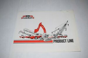 1990 Link belt Construction Equipment Product Line Sales Brochure