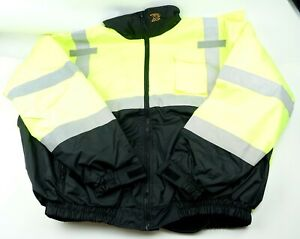 Xp Bomber Safety Jacket W Hood 2xl High Visibility Yellow