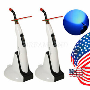 2 X Dental Cordless Led Curing Light Cure Lamp Wireless Skysea Usa Free Shipping