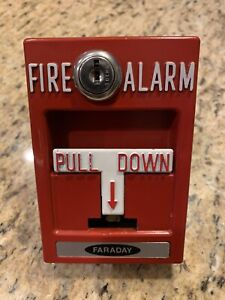 Faraday Rms 1t Fire Alarm Pull Station Glass Tube