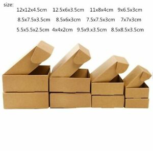 Kraft Paper Gift Box Business Mailing Packaging Tools Events Supplies 50 Pcs lot